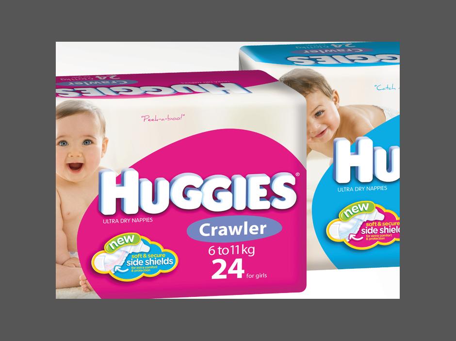 Huggies pack renders