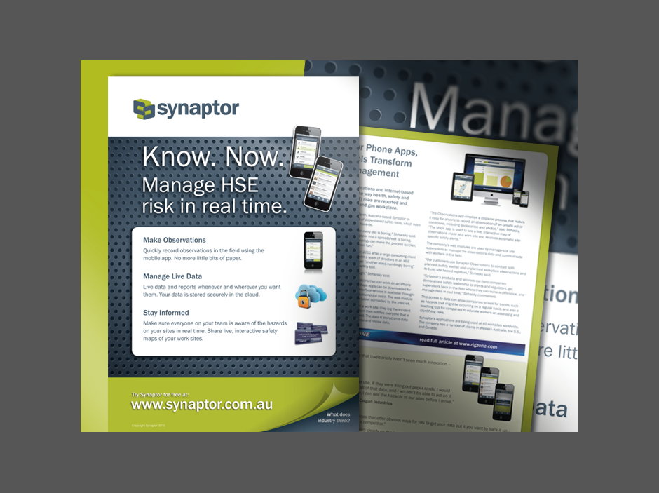 synaptor print collateral